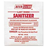 ** Beer Clean Last Rinse Glass Sanitizer, Powder, .25oz Packet, 100/Carton **