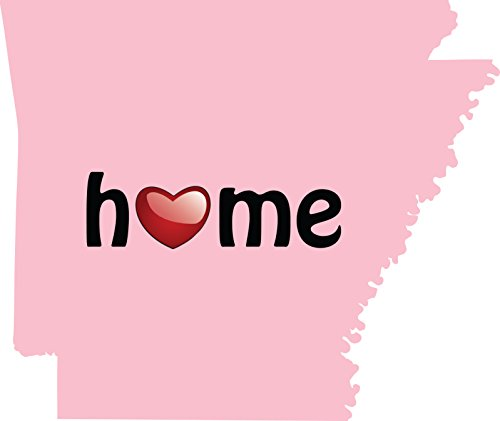 Wal Mart Home Decor - Arkansas Is Home Vinyl Decal Wall, Car, Laptop - Pink - 3.5 inch