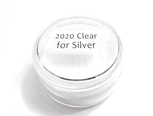 Thompson Enamel - Transparent Colors - 1/2 oz Jar, Lead Free Vitreous Enamel Powder (Clear for Silver 2020)