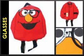 Sesame Street Glasses Elmo Mini Backpack Bag, Outdoor Stuffs