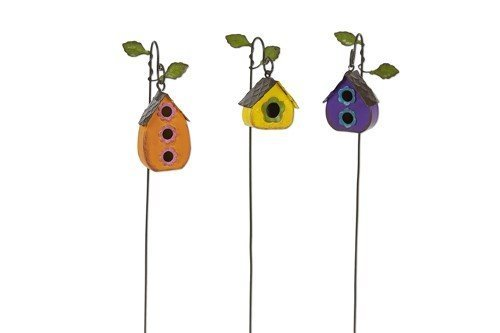Miniature Fairy Garden Mini Hanging Birdhouses - Set of (Birdhouses Garden)