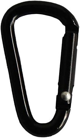 Sukipu 第5 D型オールブラックアルミ合金カラビナ荷物キー服多機能アクセサリー-20パック (色 : Black-20 pack)