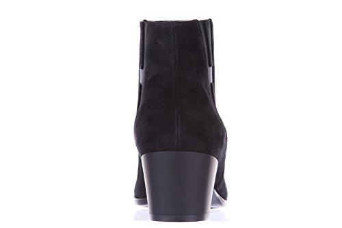 Hogan demi bottes femme en daim h272 tronchetto elastico noir