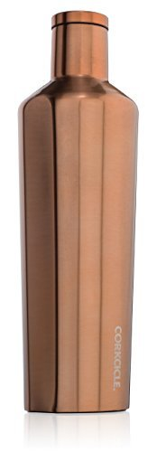 Corkcicle Canteen - Water Bottle and Thermos - Keeps Beverages Cold for Over 25, Hot for Over 12 Hours - Triple Insulated with Shatterproof Stainless Steel Construction - Copper - 25 oz.