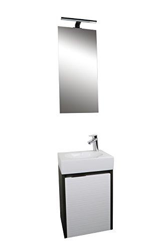 Croydex Beaulieu Vanity Unit/Mirror and LED Light, Set of 3, Oak from Croydex
