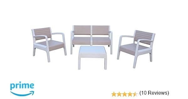 Shaf Miami - Conjunto muebles jardín/terraza, color beige: Amazon ...