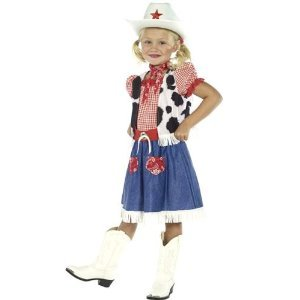 (Girls Wild West Cowboy Cowgirl Book Day Week Wild West Fancy Dress Costume Outfit 4-12 Years (4-6 Years,)