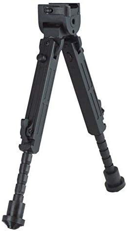 This contains the picture of Lion Gears Bipod, black color, on a white background.