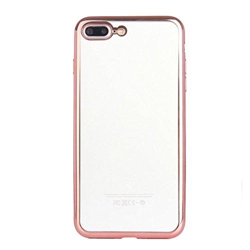 "Price comparison product image Tenworld Slim Shock Absorption Colorful PC Bumper Case Cover For iPhone 7 Plus 5.5 inch / iPhone 7 4.7 inch (For iPhone 7 Plus 5.5"", Rose Gold)"