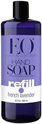 EO Botanical Liquid Hand Soap Refill, French Lavender, 32 Ounce (Pack of 2)