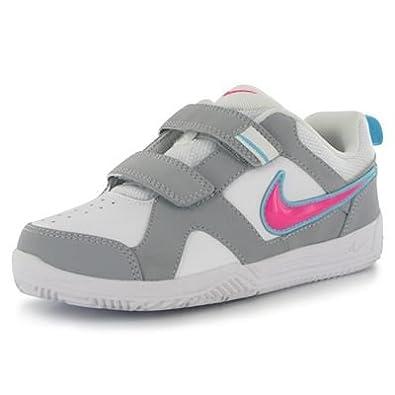 Nike , Mädchen Tennisschuhe, Weiß WeißRosa Größe: 31.5