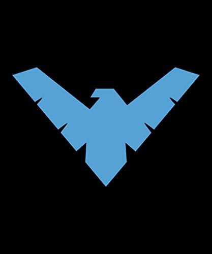 JPI DC Comics Batman Nightwing Arkham Knight Superhero Logo Fleece Throw Blanket