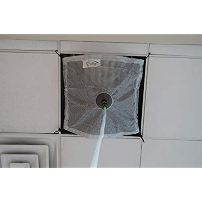 Ceiling Tile Leak Diverter (2' x 2') by GoGrailey, Heavy Duty, Roof Leaks, Built in Bungee Cords, Multipurpose, Reusable, Easy to use, Easily Stores Away