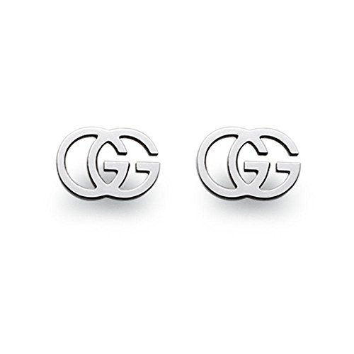 Luxury Jewelry Brands. GUCCI GG TISSUE white gold 18kt earrings YBD094074001 #jewelrytrends