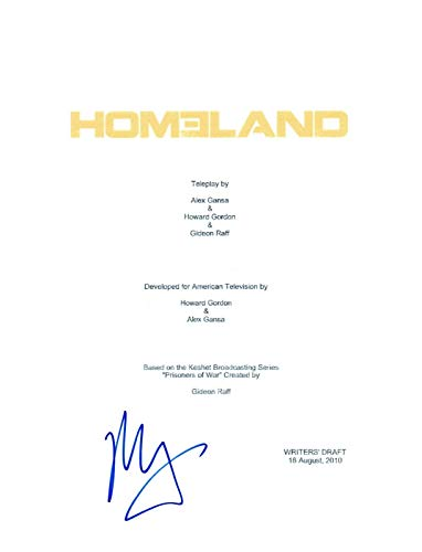Mandy Patinkin Signed Autographed HOMELAND Full Pilot Episode Script COA