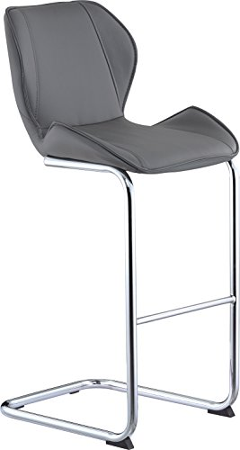 Global Furniture Bar Stool, Grey Pu