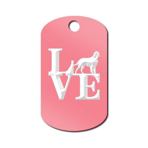 Love Irish Setter Engraved Keychain / GI Tag Mister Petlife park red Pink (Keychain Setter)