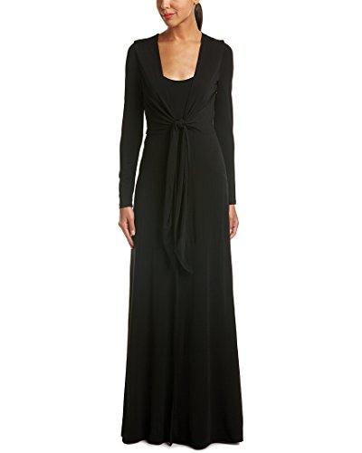 - alice + olivia Womens Salina Tie-Waist Maxi Dress, S, Black