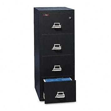 """Armario de cuatro cajones de archivo Vertical tamaño Legal 31 """"D, color negro"""