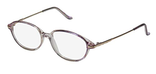 D&A Wl5 Turner For Ladies/Women Designer Full-Rim Shape Elegant Beautiful Older Eyeglasses/Eyeglass Frame (48-17-130, Clear/Purple/Gold) (D-frame Brille)