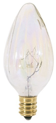 Satco S3373 120V Candelabra Base 25-Watt F10 Light Bulb, Aurora by Satco