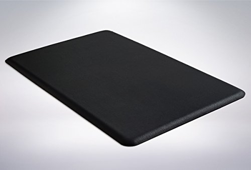 The Original 1/2' GORILLA GRIP Anti-Fatigue Comfort Mat, Ergonomically Engineered, Highest Quality Material, Non-Toxic, Waterproof, 32x20 inches (Black)