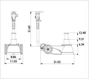 AME B25-2 Portable Air Hydraulic Jack 25//10 Ton