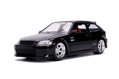 Jada 30719 1:24 JDM - '97 Hond Civic EK Type R Diecast Vehicle, Glossy Black