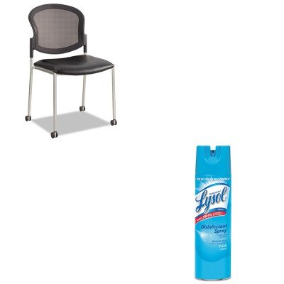 KITRAC04675EASAF5009BV - Value Kit - Safco Diaz Guest Chair (SAF5009BV) and Professional LYSOL Brand Disinfectant Spray (RAC04675EA)