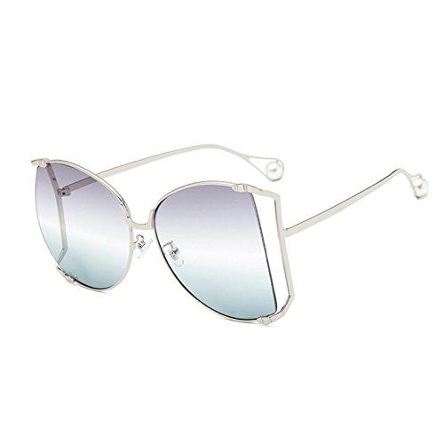 Klare Frauen KXLEB Dekoration C3 Große Rahmen Frauen Sonnenbrille Linse Uv400 Übergroßen Sonnenbrille Quadratischen Perle Für C9 8Fr7wx8q