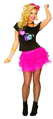 Costume Culture Women's 80's Petticoat Skirt, Hot Pink, One Size ()