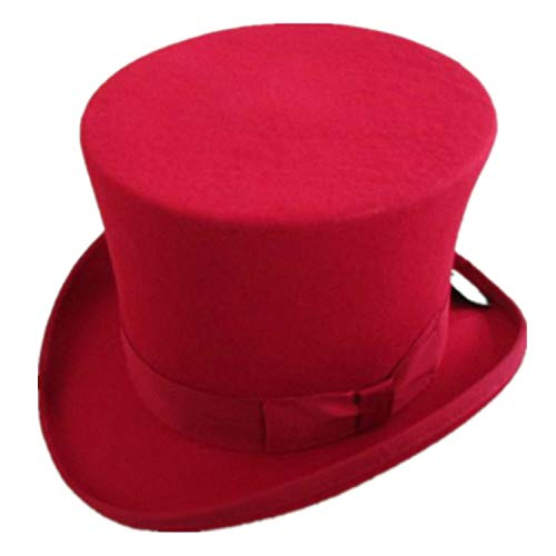 Steampunk Hat Wool Fedoras Top Hat Victorian Male Millinery Traditional Magic Magician Caps 15cm(5.89inch) 3 Color - Woven Adams Cap