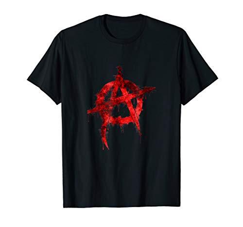 Red Graffiti Anarchy Symbol T-Shirt ()