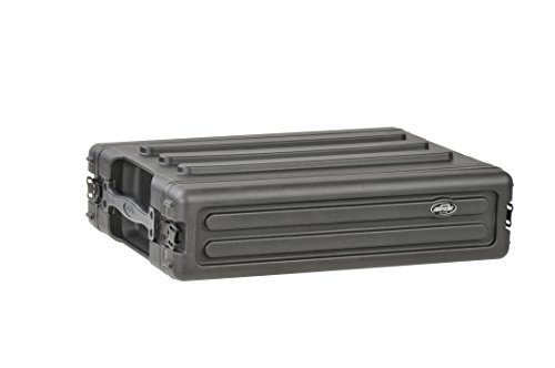 SKB 1SKB-R2S 2U Shallow Roto Rack with Steel Rails Front/Back, 10.5-Inch Deep Rail to Rail by SKB