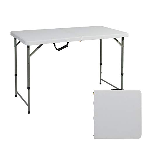 (soges Folding Table 48 by 24 in, Portal Outdoor Folding Utility Table for Garden, Beach, Camping, Picnics, Cookouts, Party, Weatherproof, No Assembly and Easy to Carry, HP-122CZ)