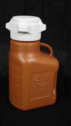 Foxx Life Sciences - 2.5L Amber HDPE Carboy with 83mm Cap, EA