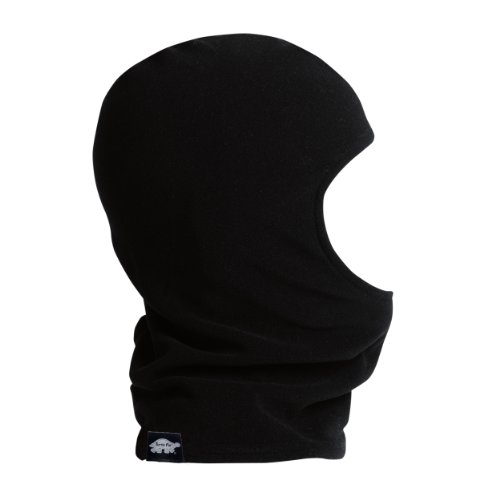 Turtle Fur Kids Single-Layer Micro Fur Fleece Classic Balaclava, Black