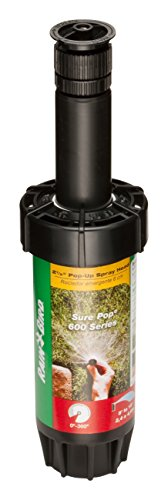 - Rain Bird SP25AP Sure Pop 600 Series Pop-Up Sprinkler, Adjustable 0° - 360° Pattern, 8' - 15' Spray Distance, 2-1/2