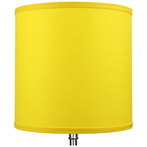 FenchelShades.com 10.5'' Top Diameter x 10.5'' Bottom Diameter 10.5'' Height Cylinder Drum Lampshade USA Made (Citrus) by FenchelShades.com (Image #2)