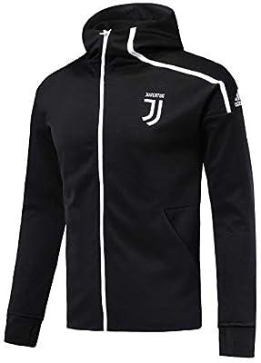 NTK-Jersey Men's 2019 Official Juventus Z.N.E. Anthem Squad Jacket Full Zip Black