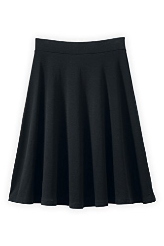 Fair Indigo Fair Trade Organic Full Skirt (M, Black)