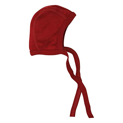 (Lilano Organic Merino Wool and Silk Baby Hat Bonnet [100900]. Made in Germany. (68 (4-6 Months), Red))