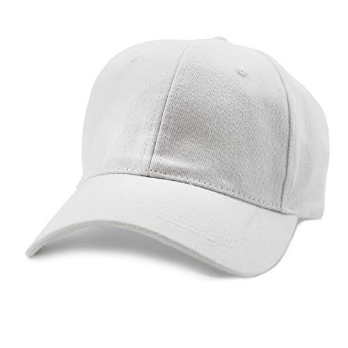 Juvale Plain Baseball Caps - Set of 24 Blank Cotton Dad Hats, Adjustable 7 to 7 7/8 Inches, White
