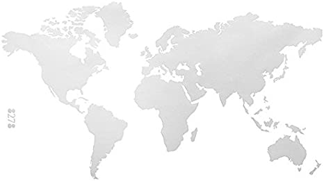 Aliciashouse Mundo de PVC Grande Mapa Extraíble Vinilo Pared Etiqueta Engomada de la Casa Dormitorio Oficina Arte Etiqueta- Blanco: Amazon.es: Hogar