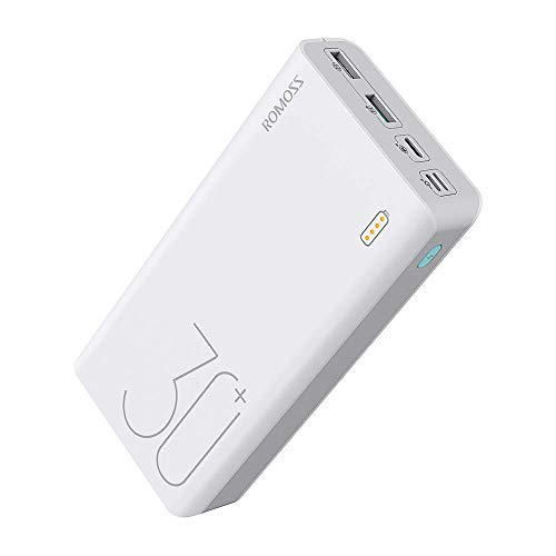 ROMOSS PD Power Bank 26800mAh, 18W 2-Way USB C Portable Charger, Tri-Input-Output QC3.0 Phone Battery Charger Fit for iPhone 11/11 Pro, iPad, MacBook, Nintendo Switch, Samsung S10 and More
