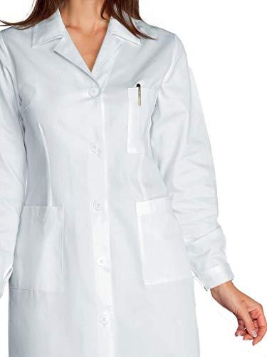 Camice Isacco Bianco Con Bianco 100 Manica Donna Bottoni 3xl Asola Cotone Lunga 18070 ZppdwS