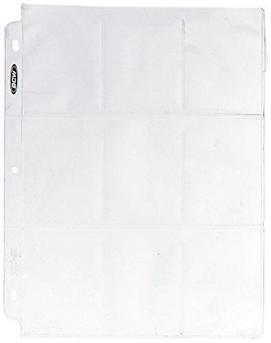 BCW 9-Pocket Plastic Sheets iWOSjp, 500 Pack by BCW
