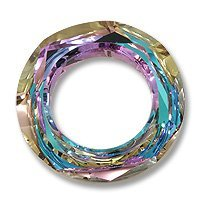Swarovski Cosmic Ring Component 4139 14mm Crystal Vitrail Light (Package of 2)