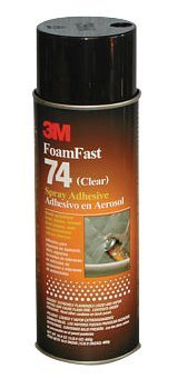 3M Industrial 405-021200-50045 3M Foamfast 74 Spray Adhesive 24 Oz Clear