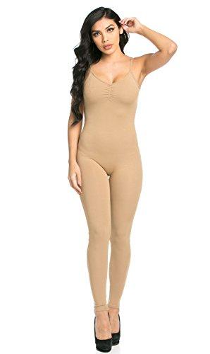 Camisole Unitard (SOHO GLAM Pinch Front Camisole Unitard in Nude)